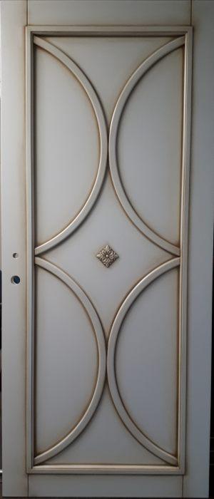 Межкомнатная дверь в профиле массив (эмаль с патиной) Гомель