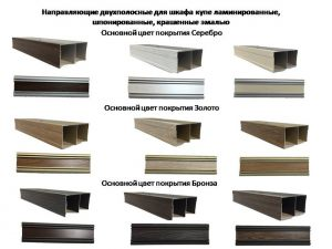 Направляющие двухполосные для шкафа купе ламинированные, шпонированные, крашенные эмалью Гомель