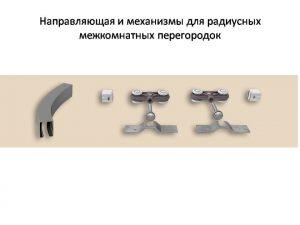 Направляющая и механизмы верхний подвес для радиусных межкомнатных перегородок Гомель