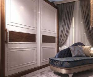 Шкаф купе с декоративным молдингом по периметру Гомель